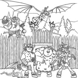 How to Train Your Dragon Coloring Pages Printable The Characters from the Movie