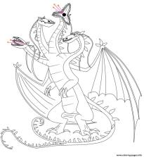 How to Train Your Dragon Coloring Pages for Kids Snaptrapper Dragon