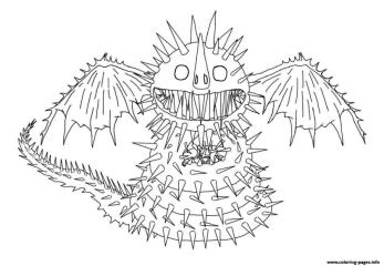 How to Train Your Dragon Coloring Pages for Kids Whispering Death