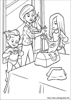 Incredibles Coloring Pages Free Choosing New Outfit