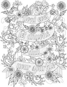 Inspirational Coloring Pages Dont Listen to Anyone