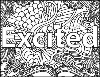 Inspirational Coloring Pages Free Excited