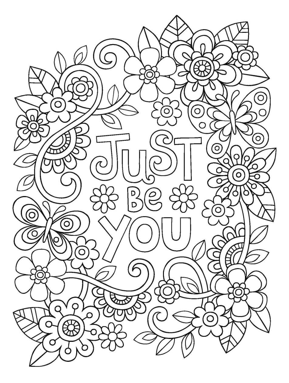 Inspirational Coloring Pages Just Be You