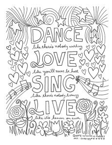 Inspirational Coloring Pages for Students Be Happy