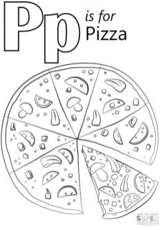 P Is for Pizza Coloring Pages itl4