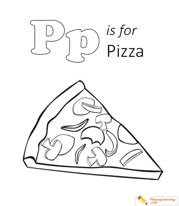P Is for Pizza Coloring Pages plc6