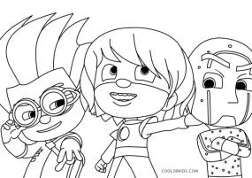 PJ Masks Coloring Pages Black and White The Three Villains
