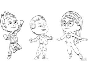 PJ Masks Coloring Pages Cool Pajama Heroes