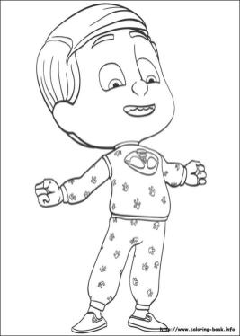 PJ Masks Coloring Pages Free Printable Gecko Is a Strong Boy
