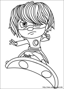 PJ Masks Coloring Pages Free Printable Luna Is Angry Little Girl
