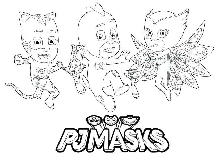 PJ Masks Coloring Pages Printable Gecko Catboy and Owlette Best Friends