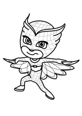 PJ Masks Coloring Pages Printable Owlette Ready to Fly