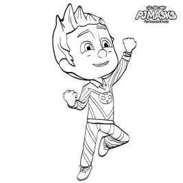 PJ Masks Coloring Pages to Print Catboy Unmasked