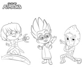 PJ Masks Coloring Pages to Print The Villains in PJ Masks