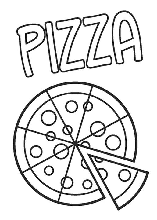 Pizza Coloring Pages Printable P Is for Pizza