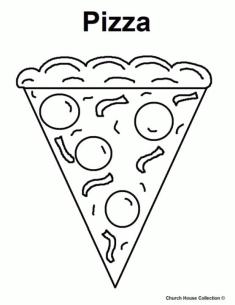 Pizza Toppings Coloring Pages Easy Pizza Printable