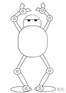 Robot Coloring Pages Funny Robot Trying to Dance