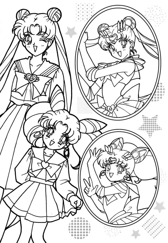 Sailor Moon Coloring Pages Free Cute Sailor Moon Characters