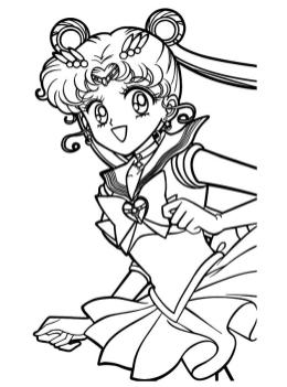 Sailor Moon Coloring Pages Free Usagi Running Happily