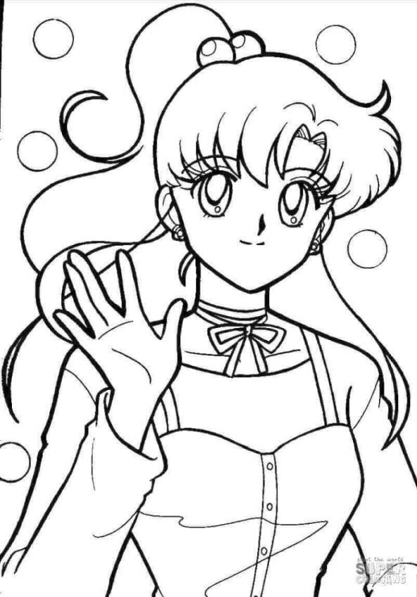 Sailor Moon Coloring Pages Makoto Kino
