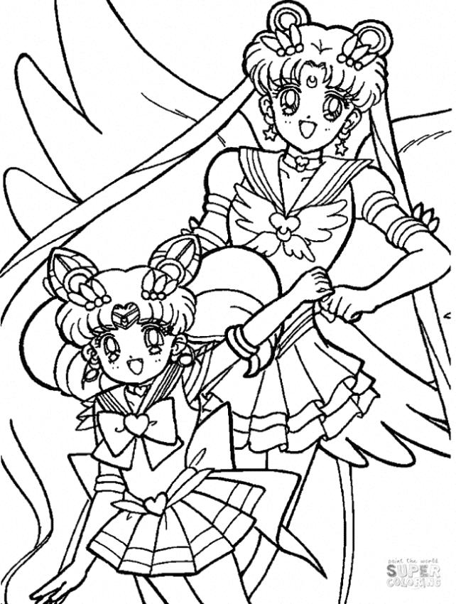 Sailor Moon Coloring Pages Sailor Moon Chibi