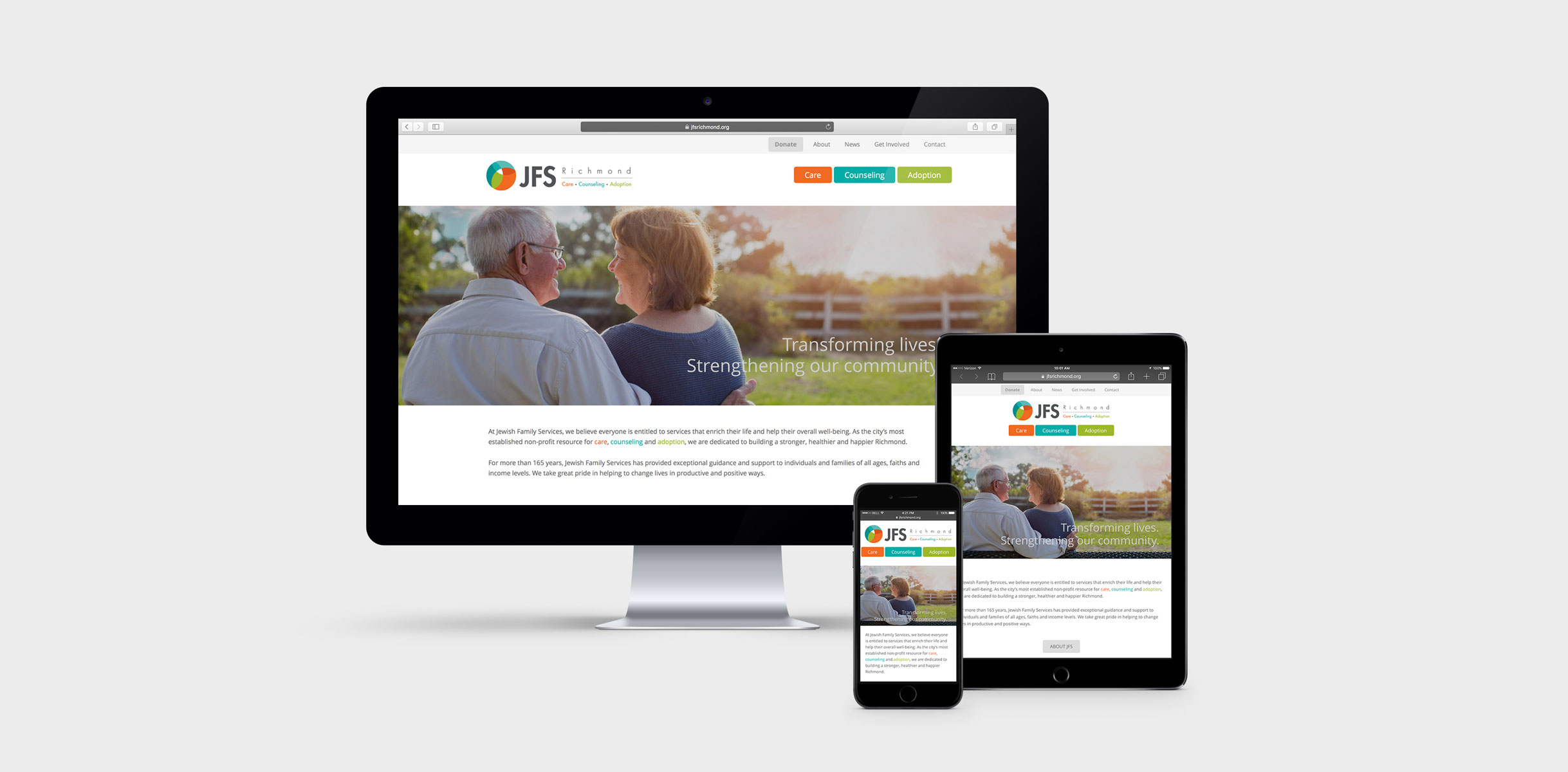 JFS website on multiple devices