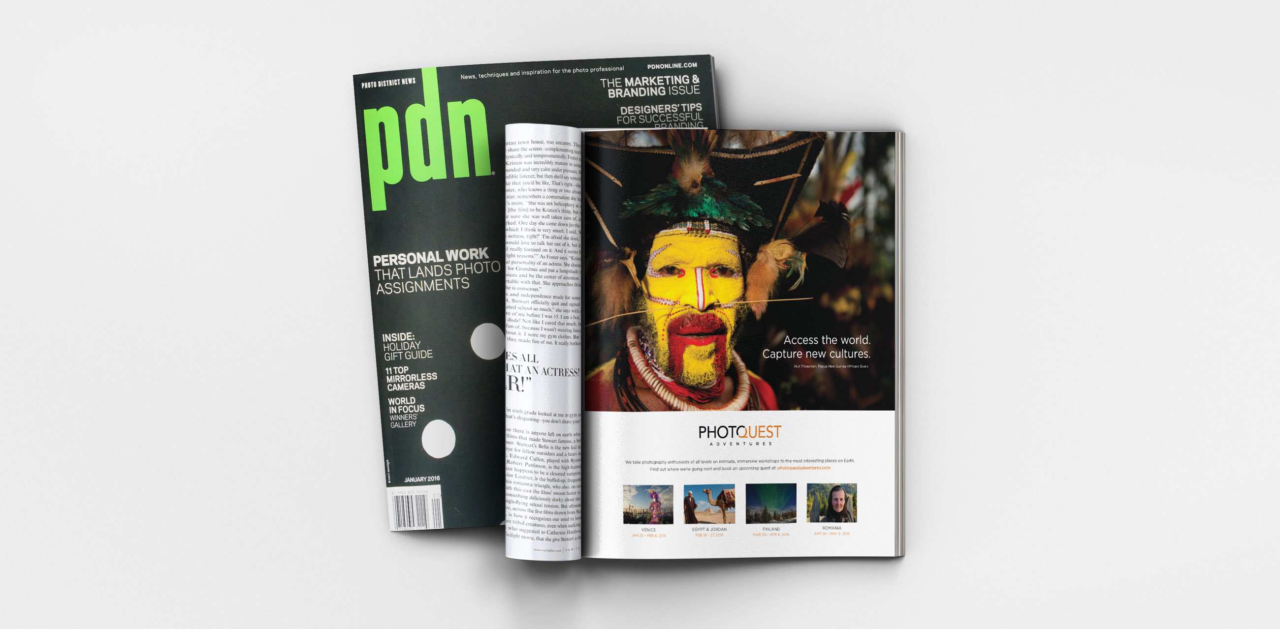 Photoquest Adventures ad in PDN Magazine