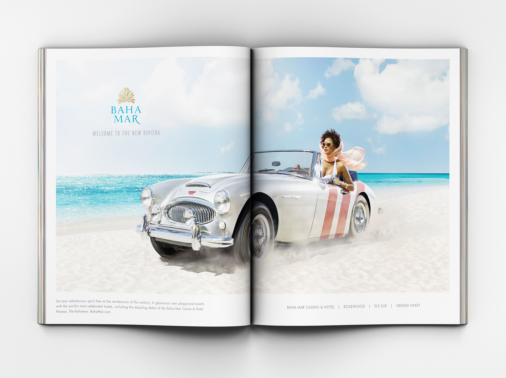 Magazine Spread of Roadster ad