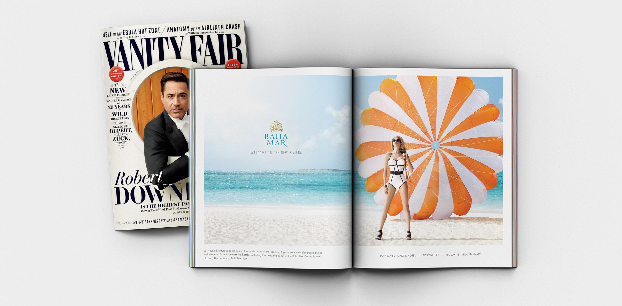 Vanity Fair Magazine spread