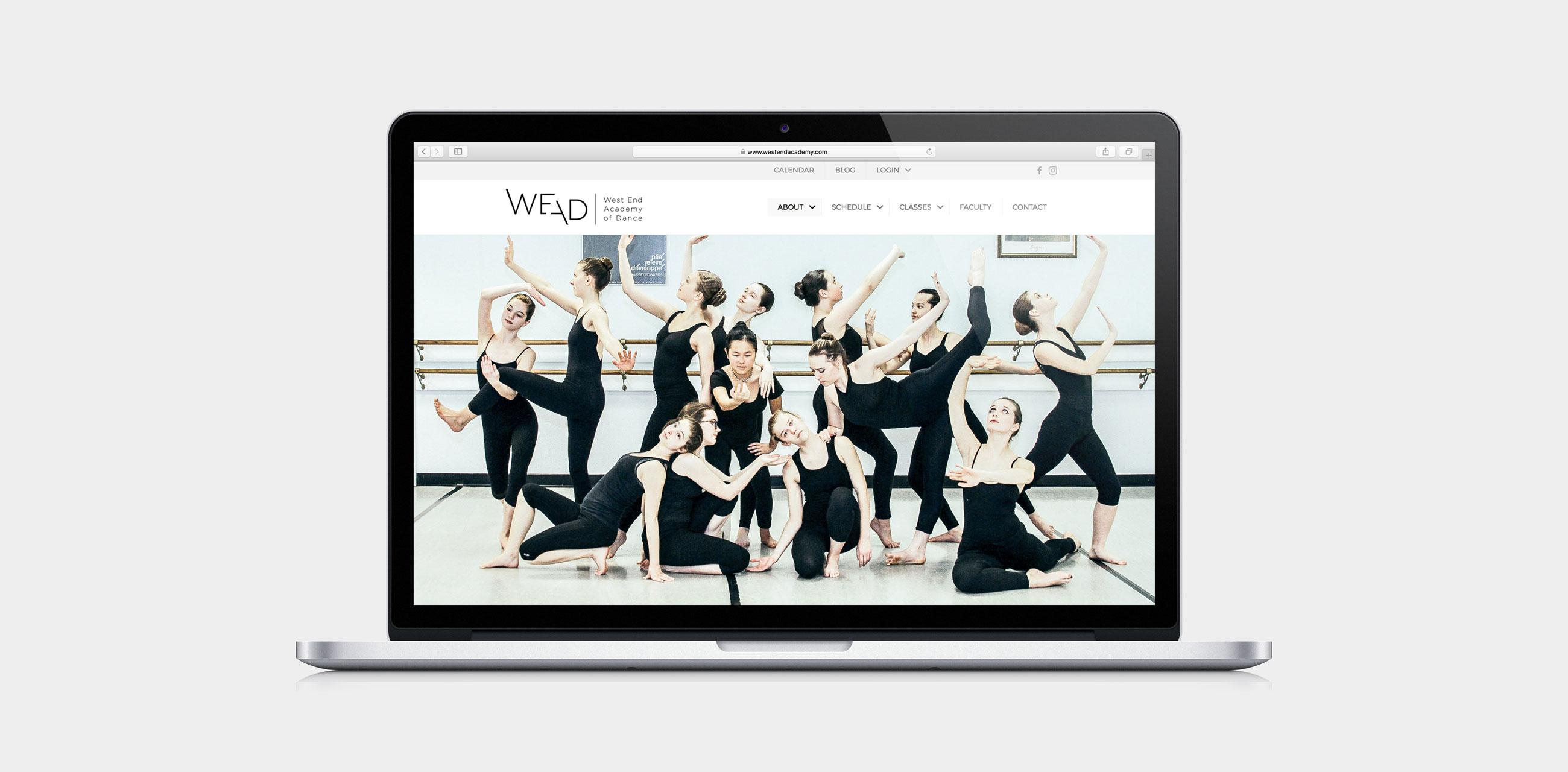 WEAD website on laptop
