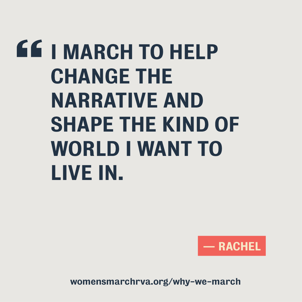 Social media graphic - quote from Rachel
