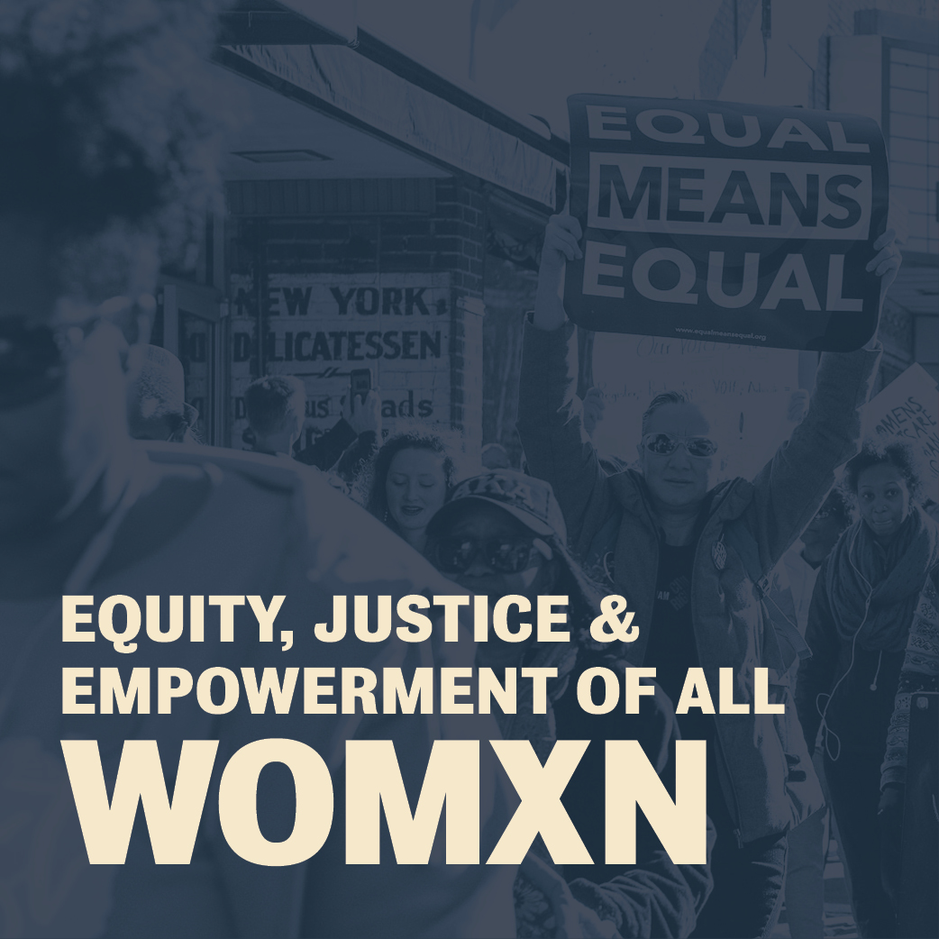 Social media graphic - Equity for all Womxn