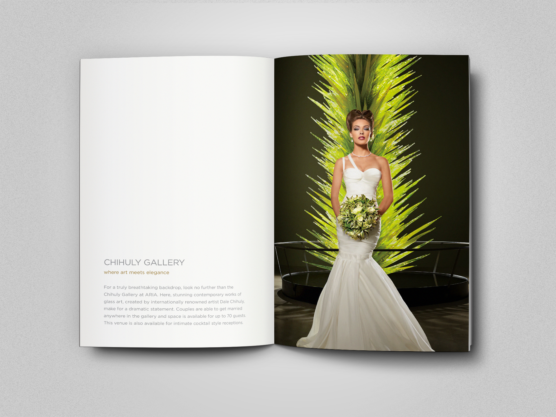 Chihuly sculpture wedding ad
