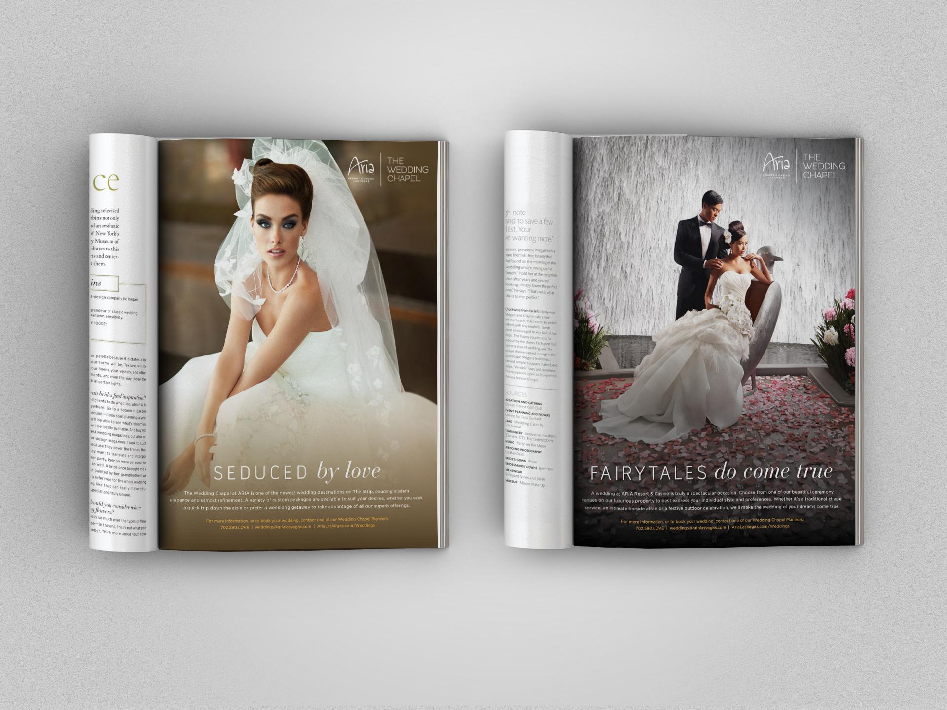 Two wedding ads