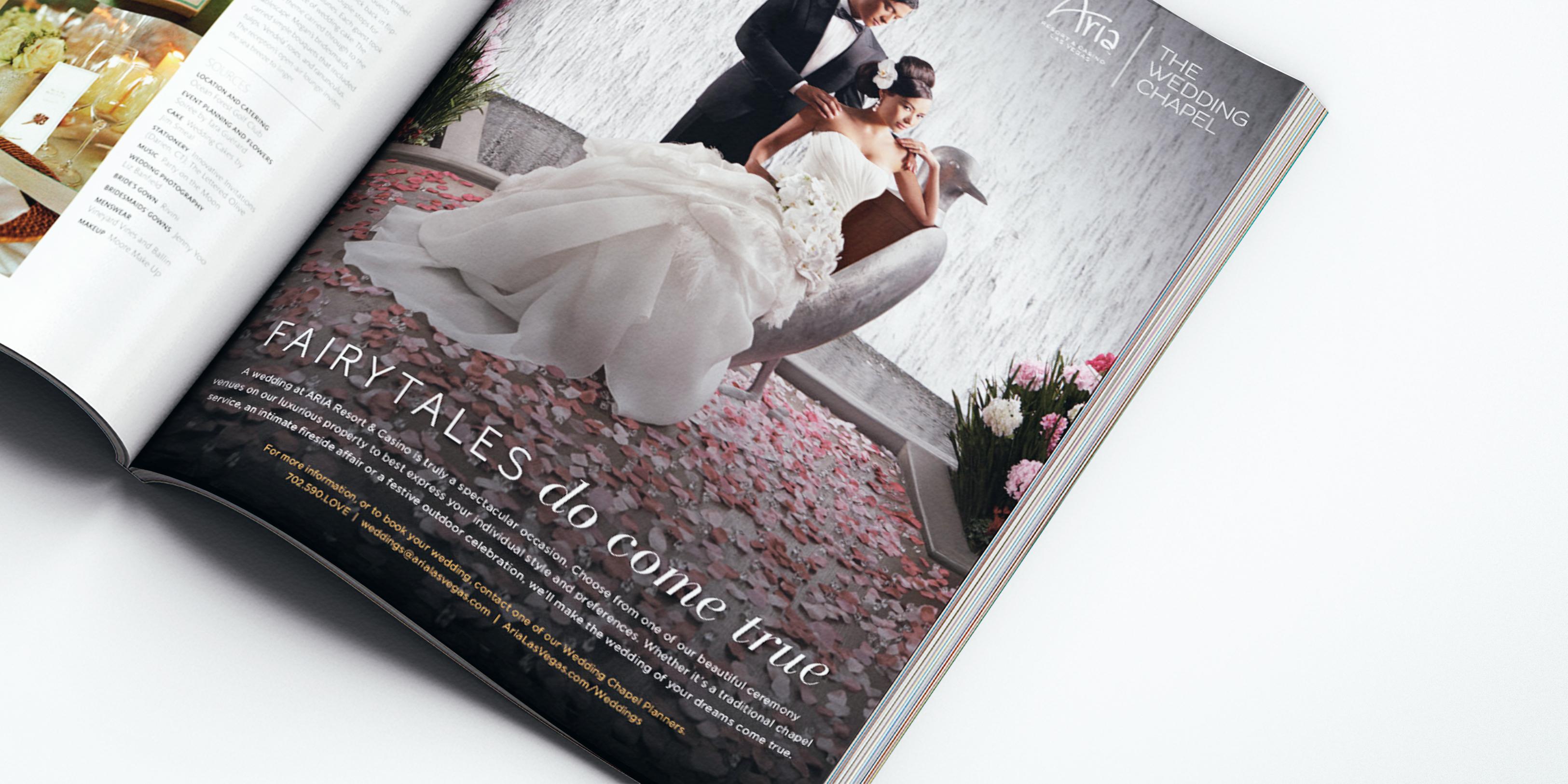 Waterfall wedding ad detail