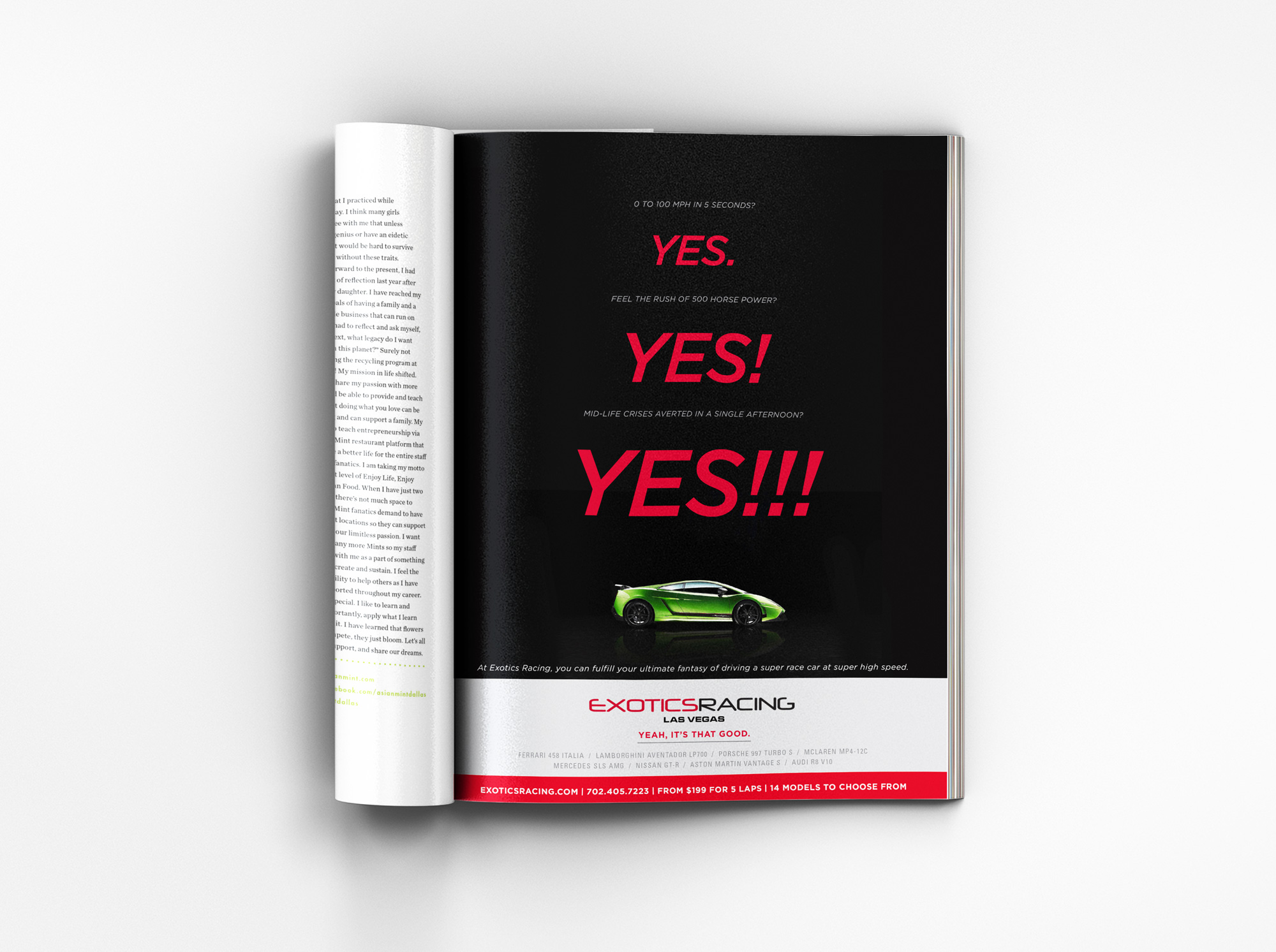 Magazine ad - yes
