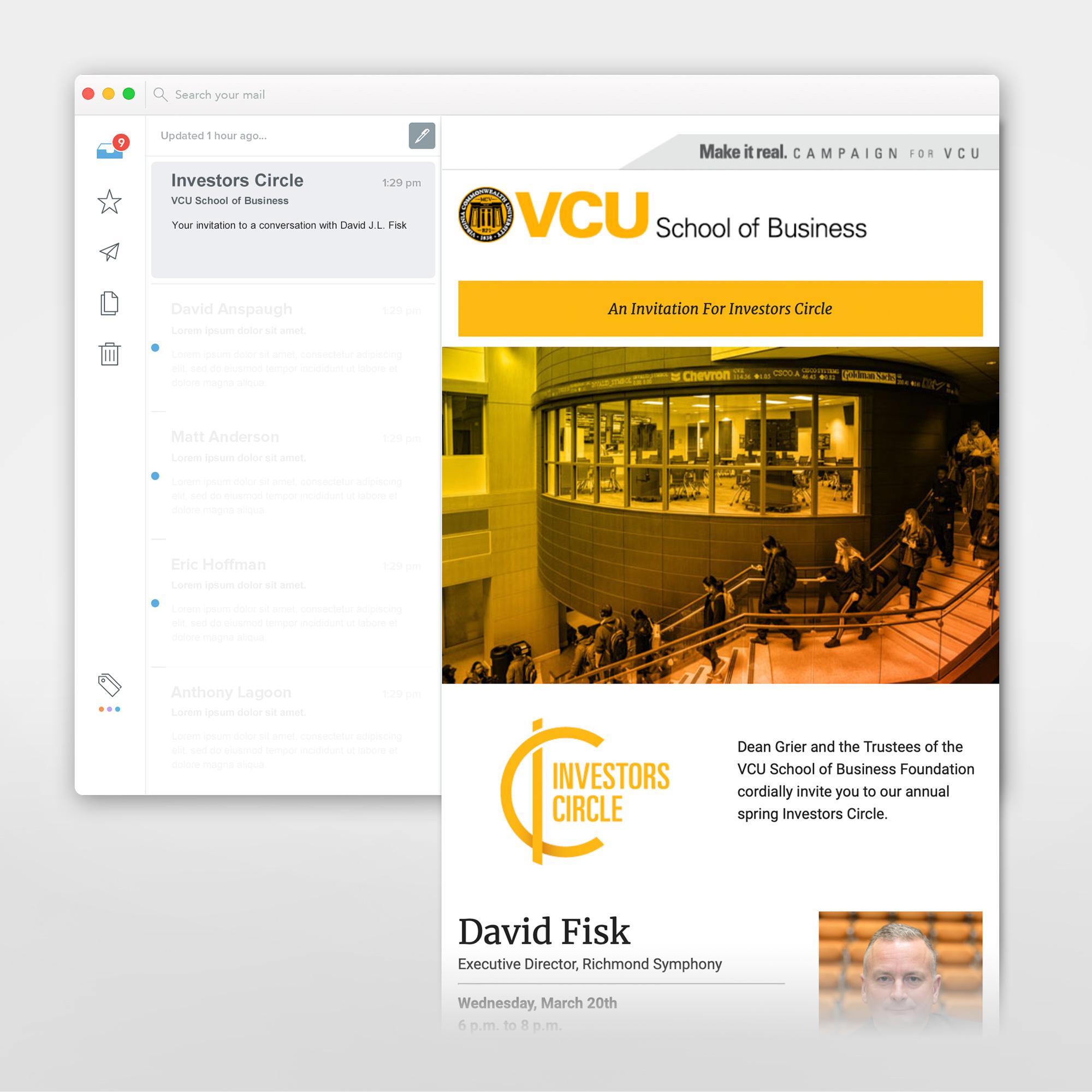 VCU email template