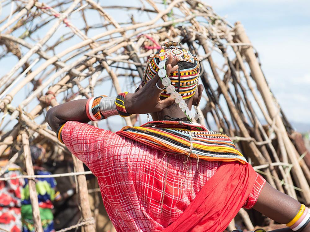 Photo of tribesman in Lake Turkana, Kenya