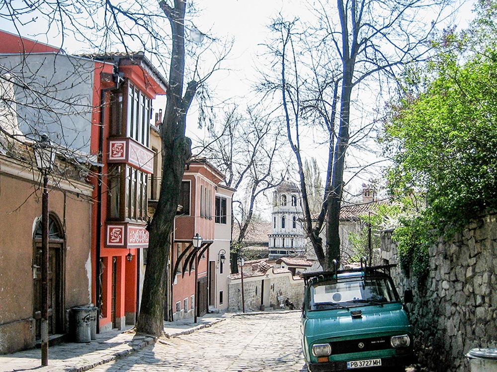 Street in Plovdiv, Bulgaria