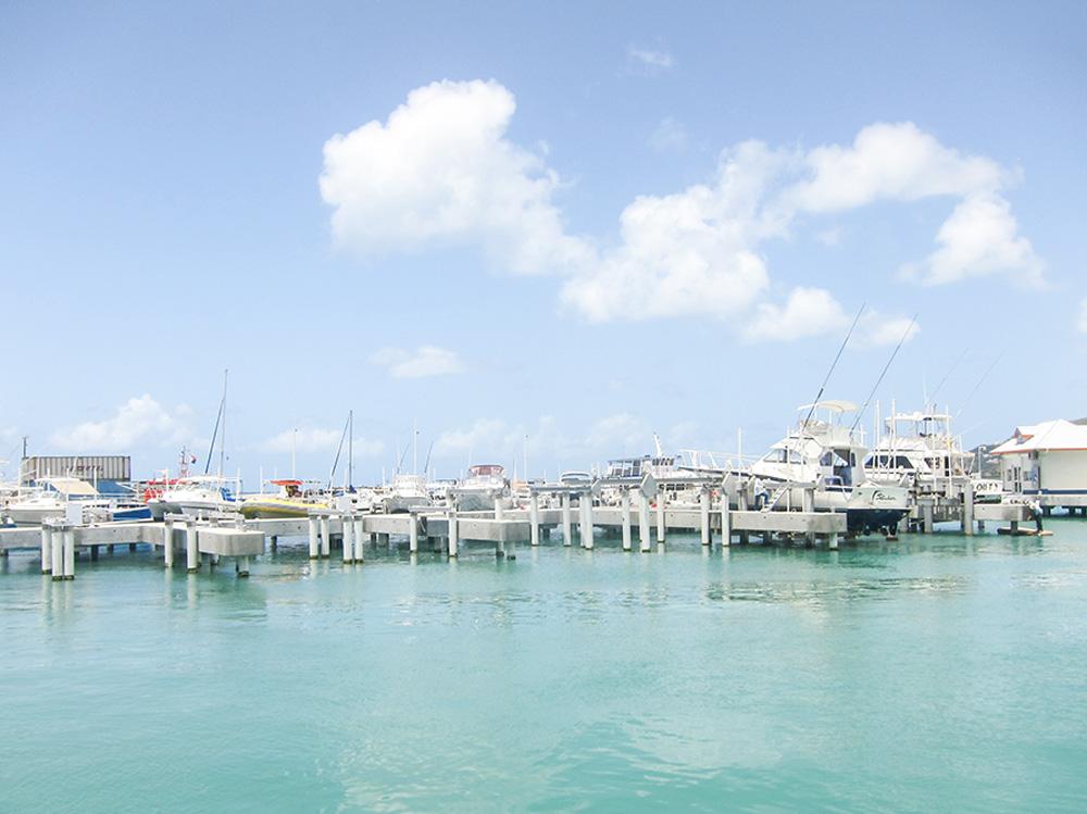 Marina in St. Martin Island