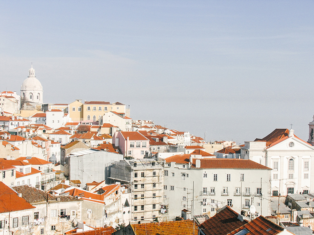 Rooftops in Lisbon, Portugal