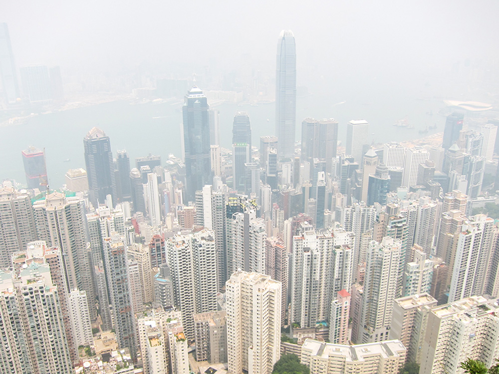 Skyline in Hong Kong