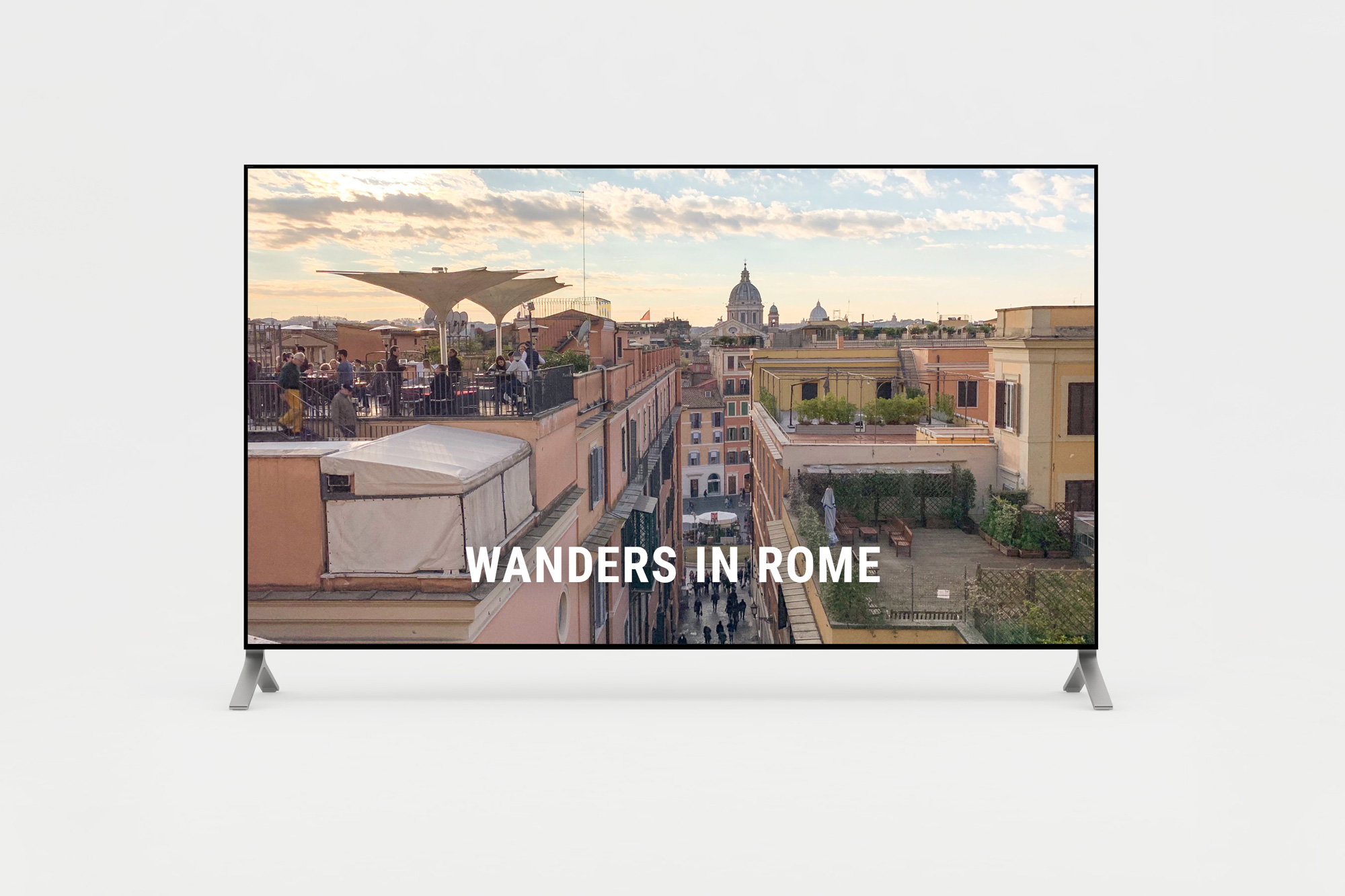 Short film of wanders in Rome