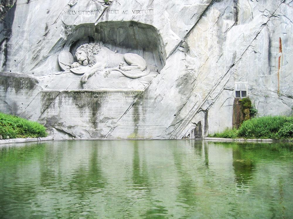 Lion sculpture in Lucerne, Switzerland