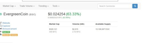 EverGreenCoin Coin Market Cap