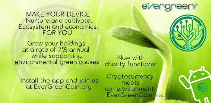 EverGreenCoin Play Store Header