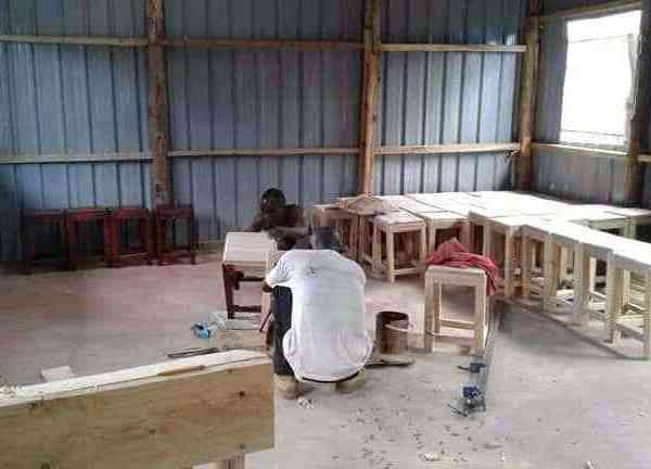 Kakuma Desk Construction