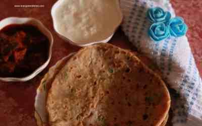 Potato and pea paratha/ Aloo matar paratha