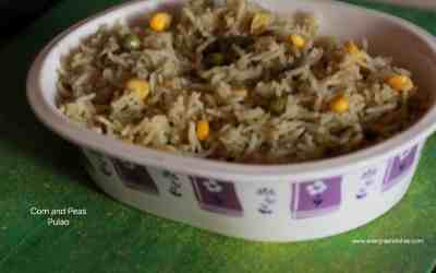 Corn and Peas Pulao / no onion garlic recipe