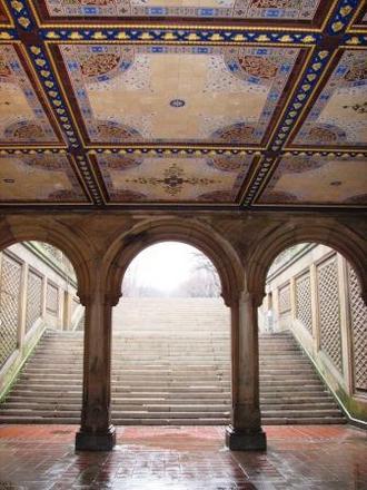 Central Park S Bethesda Terrace Arcade Evergreene